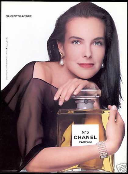 Chanel No 5 Perfume Bottle Carole Bouquet Photo (1990)