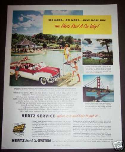 Original Hertz Rent a Car Photo (1955)