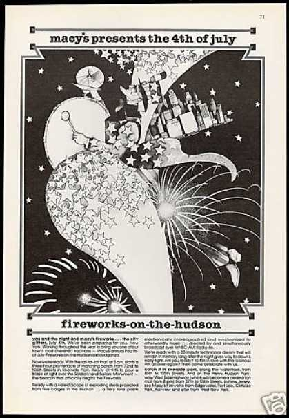 Macy's 4th July Hudson Fireworks NYC New York (1978)