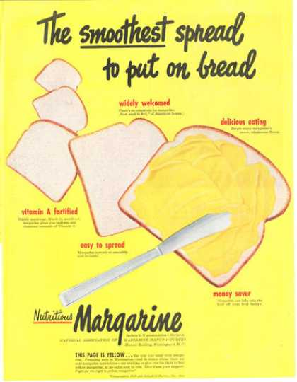 Margarine Spread Bread Yellow Print Art (1949)