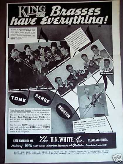 King Brass Instruments Famous Players Photo (1940)