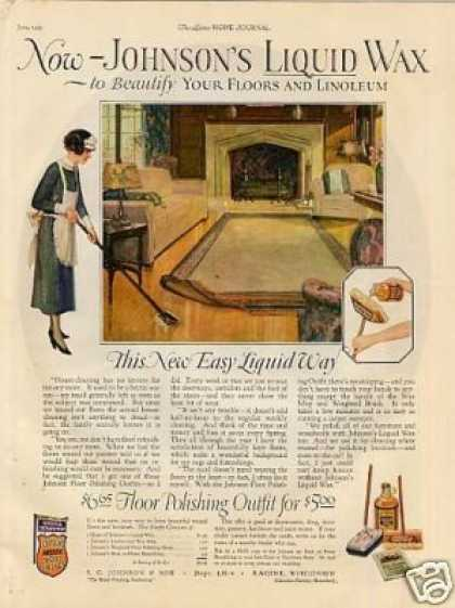 Johnson's Liquid Wax Color (1925)