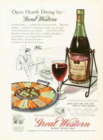 Great Western New York Burgundy Wine (1955)