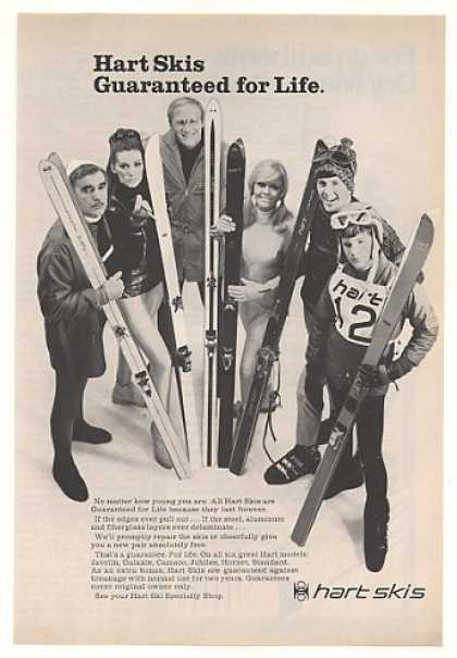 Hart Skis Guaranteed for Life Skiers Photo (1968)