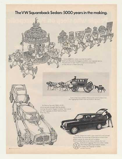 VW Volkswagen Squareback Sedan 5000 Yrs Making (1969)