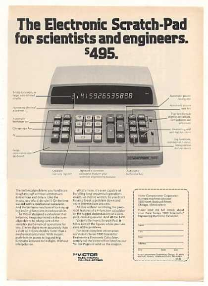 Victor Series 1800 Scientific Calculator (1973)
