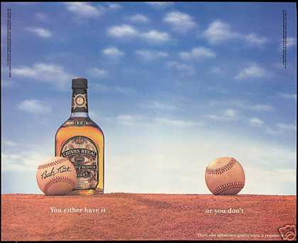 Chivas Regal Scotch Babe Ruth Baseball (1995)