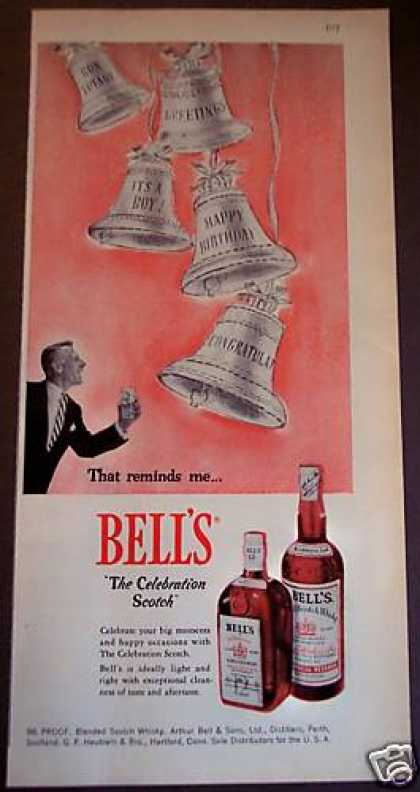 "Bell's ""The Celebration Scotch"" (1956)"