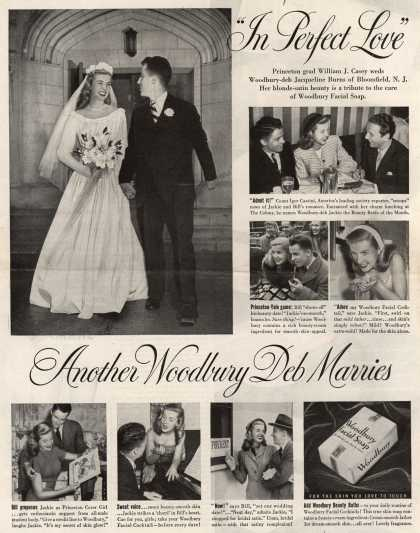 "Woodbury's Facial Soap – ""In Perfect Love"" Another Woodbury Deb Marries (1948)"