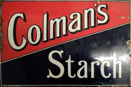 Colman's Starch Sign