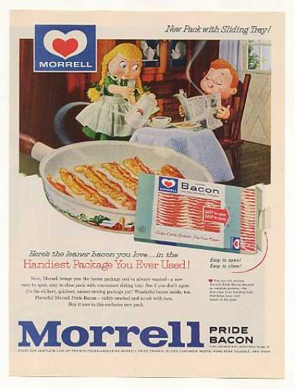 Morrell Pride Bacon Sliding Tray Package (1961)