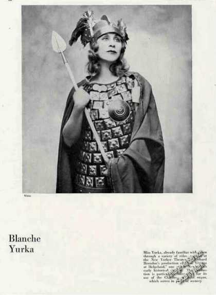 "Blanche Yurka In ""Vikings of Helgeland"" Feature (1930)"