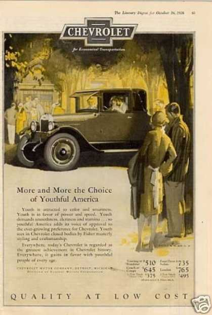 "Chevrolet Car Color Ad ""More and More... (1926)"