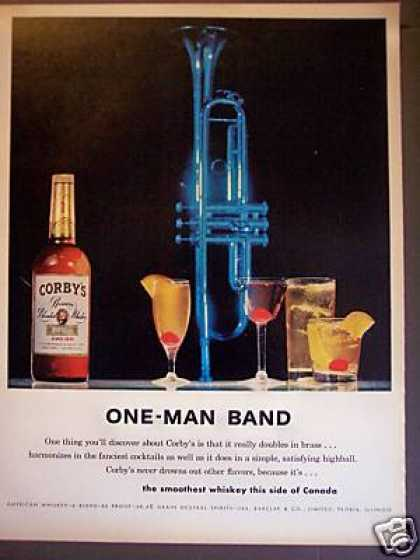 Blue Horn Bar Art Corby's Whiskey (1960)