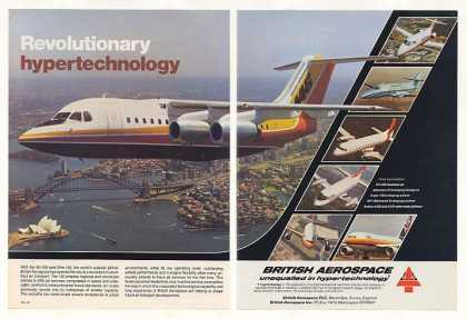 British Aerospace 146 Jet Jetliner Photo 2-Page (1983)