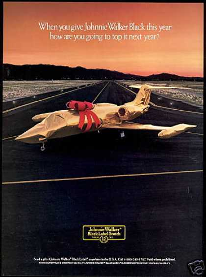 Johnnie Walker BL Scotch Private Jet & Bow (1988)