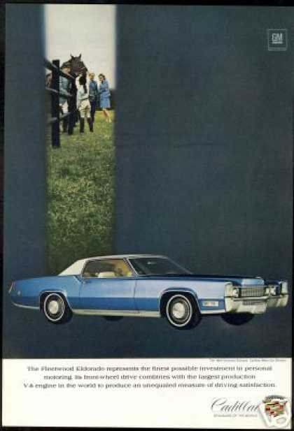 Cadillac Blue & White Fleetwood Eldorado Car (1969)