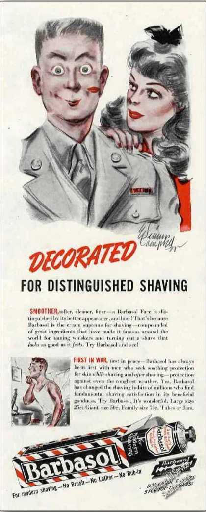 Barbasol Decorated Distinguished Shave Wwii (1944)