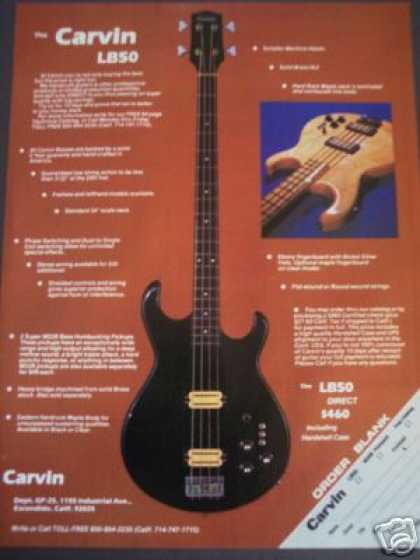 Carvin Lb50 Bass Guitar Photo (1979)