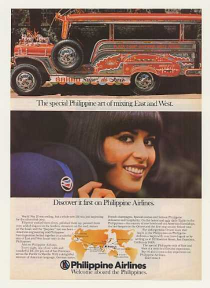 '77 Philippine Airlines Stewardess Jeep Jeepney Taxi (1977)
