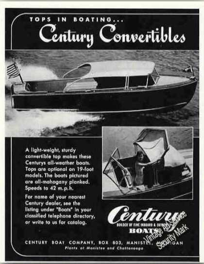 Century Convertible Top All-weather Boats (1949)