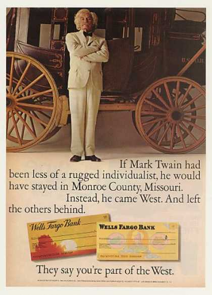 Mark Twain Stagecoach Wells Fargo Bank (1971)