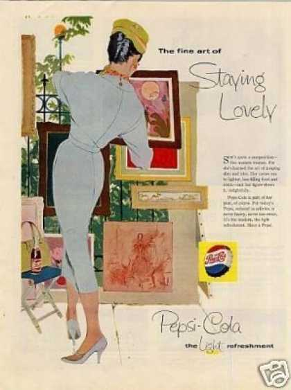 "Pepsi-cola Ad ""The Fine Art of Staying... (1958)"