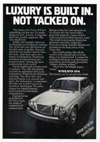 "Volvo 164 Photo ""Luxury Is Not Tacked On"" (1976)"