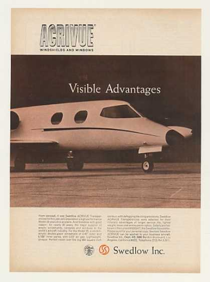 Lear Jet 23 Airplane Swedlow Acrivue Windows (1964)