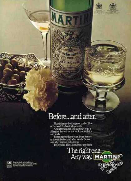 Martini & Rossi Vermouth Impressive Uk (1976)