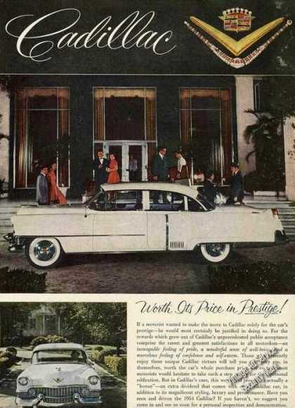 Cadillac Worth Its Price In Prestige Nice Color (1954)