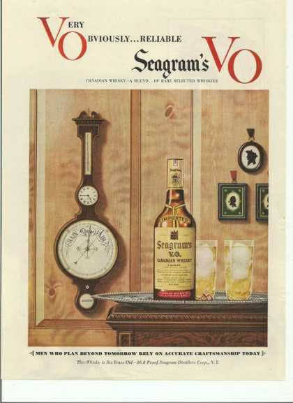 Very Obviously Reliable Seagrams Vo Whiske (1948)