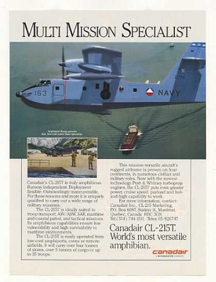 Canadair CL-215T Amphibious Aircraft Photo (1988)