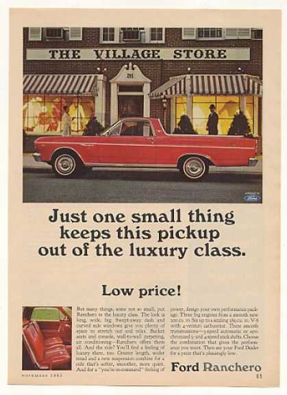 Red Ford Ranchero Low Price Luxury Class (1965)
