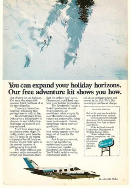 Beechcraft Duke Airplane Skiing Expand Horizons (1977)
