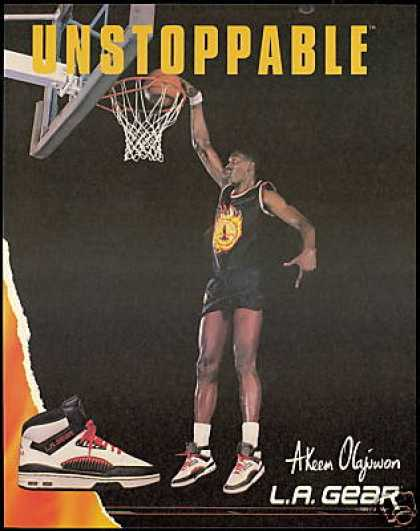 Akeem Olajuwon Basketball LA Gear Shoe (1989)