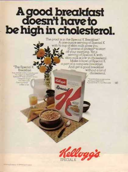 Kellogg's Special K Cereal – Not high in cholesterol (1976)