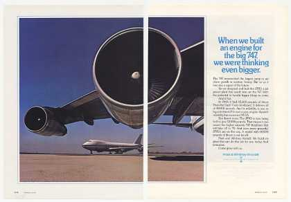 Pratt & Whitney 747 JT9D Engine Photo 2-Page (1973)
