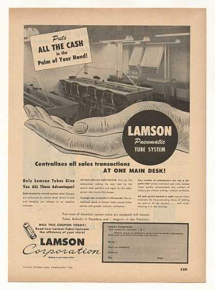Lamson Pneumatic Tube Sales System (1949)