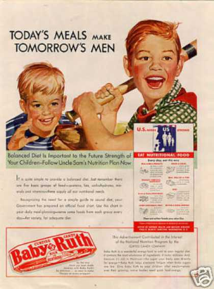 Curtiss Baby Ruth Candy Bar (1943)