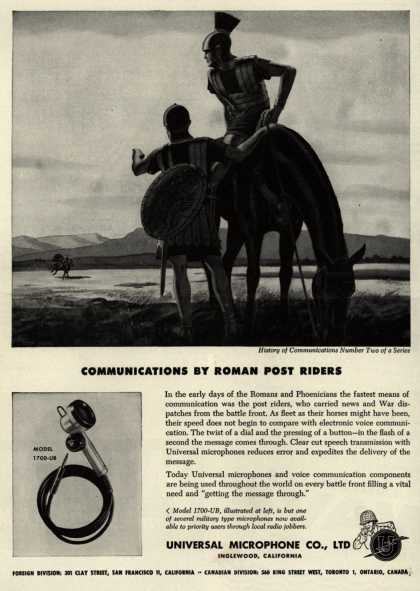 Universal Microphone Co., Ltd.'s Model 1700-UB – Communications By Roman Post Riders (1944)