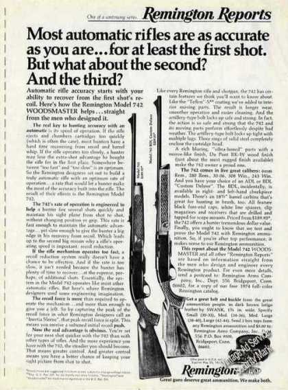 Remington Model 742 Woodsmaster Rifles Rare Gun (1974)