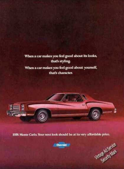 "Chevrolet Monte Carlo ""That's Character"" Car (1976)"