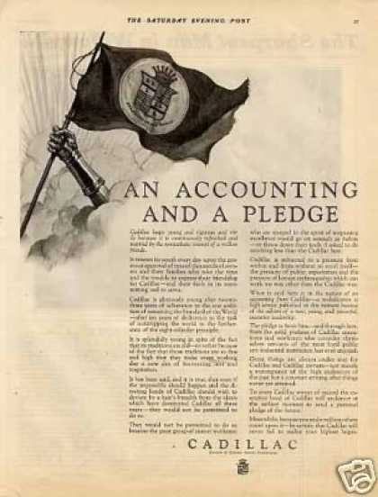 "Cadillac Ad ""An Accounting and a Pledge... (1925)"