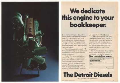 Detroit Diesel 6-71T Truck Engine Photo (1974)