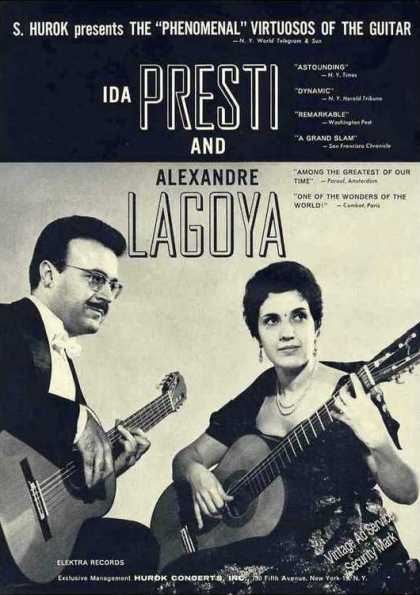 Ida Presti & Alexandre Lagoya Photo Guitarists (1962)