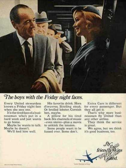 "United Airlines ""Friday Night Faces"" (1967)"