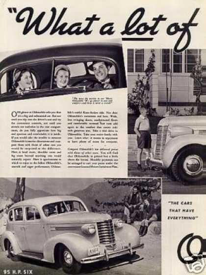 Oldsmobile Cars Ad Centerfold (1937)