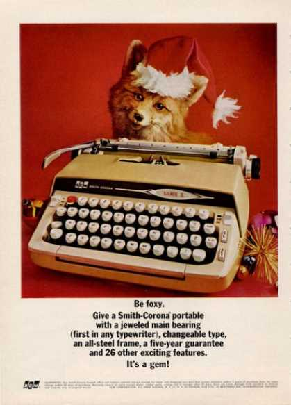 Smith Corona Typewriter Cute Fox (1964)
