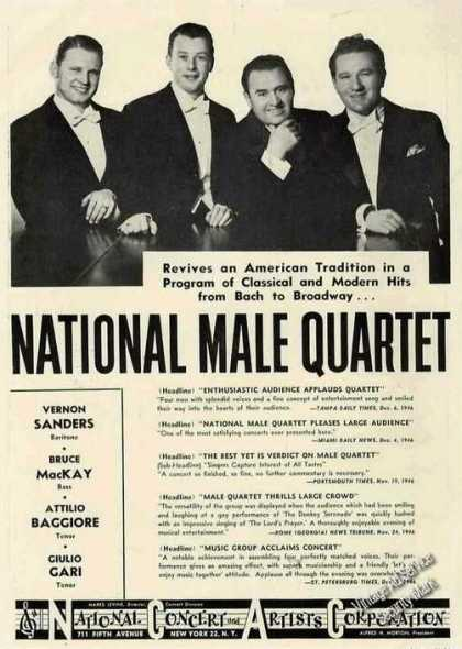 National Male Quartet Group Photo Trade (1947)